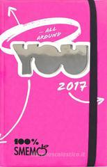 Smemo 2017. Diario Special Edition Fucsia specchio 16 mesi