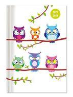 Collegetimer A6 Owls giornaliera