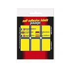 Confezione 10 fogli da 6 etichette autoadesive 70x37mm carta gialla