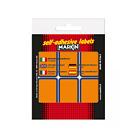 Confezione 10 fogli da 6 etichette autoadesive 70x37mm carta arancione