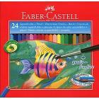 Astuccio 24 matite colorate acquerellabili con pennello