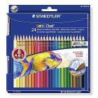 Confezione 24 matite colorate acquerellabili e pennello Noris Club