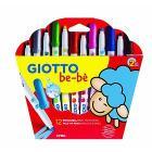 Confezione 12 pennarelli lavabili Giotto be-bè