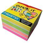 Blocchetto 500 fogli adesivi colorati 7,5x7,5 cm Stick It
