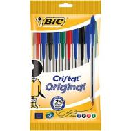 Confezione 10 penne a sfera Bic Cristal Original colori assortiti