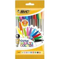 Confezione 10 penne a sfera Bic Cristal Multicolor colori assortiti