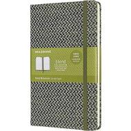Moleskine - Taccuino Blend Limited Collection a righe verde - Large copertina rigida in tessuto