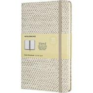Moleskine - Taccuino Blend Limited Collection a righe beige - Large copertina rigida in tessuto