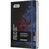 Moleskine 12 mesi - Agenda giornaliera Limited Edition Star Wars Millennium Falcon - Large copertina rigida 2020