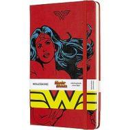 Moleskine - Taccuino a righe Wonder Woman rosso - Large copertina rigida