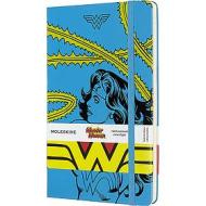 Moleskine - Taccuino a righe Wonder Woman blu - Large copertina rigida