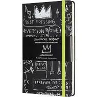 Moleskine - Taccuino a righe Basquiat nero - Large copertina rigida