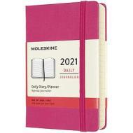 Moleskine 12 mesi - Agenda giornaliera rosa bouganvillea - Pocket copertina rigida 2021