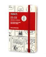 Moleskine 18 mesi - Agenda settimanale notebook Peanuts - Pocket - Copertina rigida 2015 – 2016