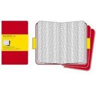 Moleskine. Set 3 quaderni a quadretti - Pocket - Copertina rossa