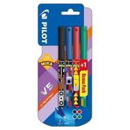 Confezione 4 roller a inchiostro liquido Hi-Techpoint V5 Limited Edition Mika