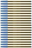 Confezione 20 penne a sfera a punta fine Noris Stick 434 blu