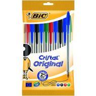 Confezione 10 penne biro Cristal Original colori assortiti