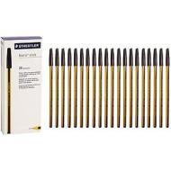 Confezione 20 penne a sfera a punta fine Noris Stick 434 nero