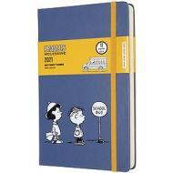 Moleskine 12 mesi - Agenda giornaliera Limited Edition Peanuts blu - Large copertina rigida 2021