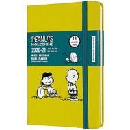 Moleskine 18 mesi - Agenda settimanale Limited Edition Peanuts giallo - Pocket copertina rigida 2020-2021