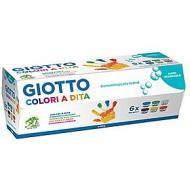 Confezione 6 colori a dita Giotto