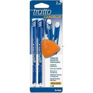 Confezione 2 penne cancellabili Tratto Cancellik con gomma