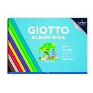 Album da disegno 20 fogli lisci colorati Giotto Kids