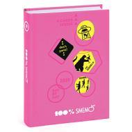 Smemoranda 2019. Diario Smemo 16 mesi large Special Edition Cartoline. Rosa