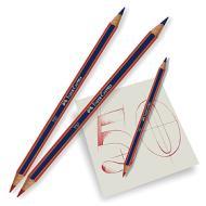 Confezione 2 matite bicolore rosso e blu