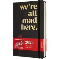 Moleskine 12 mesi - Agenda giornaliera Limited Edition Alice in Wonderland nero - Large copertina rigida 2021