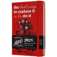Moleskine 12 mesi - Agenda settimanale Limited Edition Alice in Wonderland rosso - Pocket copertina rigida 2021