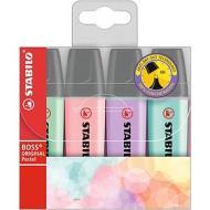 Confezione 4 evidenziatori Stabilo Boss Original Pastel (colori assortiti)