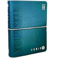 Comix U Yourself Mini Agenda 2021/2022 giornaliera 16 mesi. Blu metallizzato