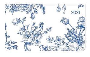 Agenda 12 mesi settimanale 2021 Ladytimer Pad Flowers