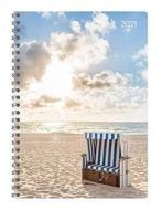 Agenda 12 mesi settimanale spiralata 2021 Ladytimer Beach