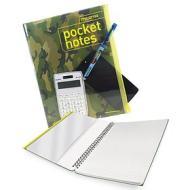 Block-notes spiralato A6 con cover portaoggetti Pocket Notes (colori assortiti)