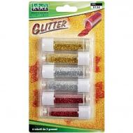 Set 6 pezzi porporina Glitter 2g (colori assortiti)