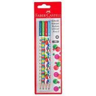 Confezione 4 matite HB Bubble