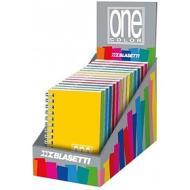 Quaderno spiralato 80 fogli righe A6 One Color (colori assortiti)