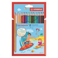 Confezione 18 pastelli acquerellabili Aquacolor