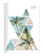 Agenda 12 mesi giornaliera 2021 Style Palm Tree
