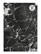 Diario agenda 16 mesi settimanale 2020-2021 Collegetimer A6 Black Marble