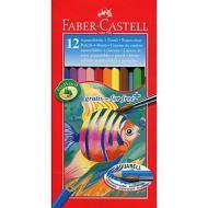 Astuccio 12 matite colorate acquerellabili con pennello