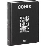 Comix 2020-2021. Diario agenda 16 mesi mini. Nero e argento