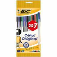 Confezione 27 penne a sfera Bic Cristal Original colori assortiti