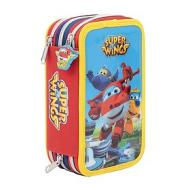 Astuccio con triplo scomparto e accessori Super Wings