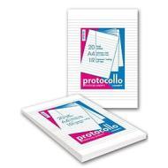 Confezione 20 fogli protocollo A4 rigatura 1 R