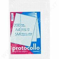 Confezione 20 fogli protocollo A4 quadrettatura 5 mm
