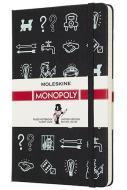Moleskine taccuino con copertina rigida a righe large. Monopoly Icone. Limited edition.
